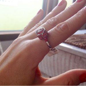 Valentine♥️ SALE Sparkling red rose ring